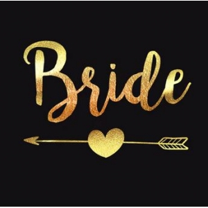"Kuldne tattoo kirjaga ""Bride"""
