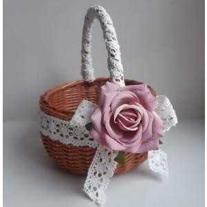 Vanaroosa roosiga lilleneiu korv