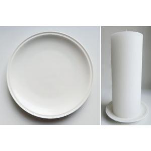Keraamiline valge küünlaalus 15cm