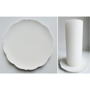 Keraamiline valge küünlaalus 19cm