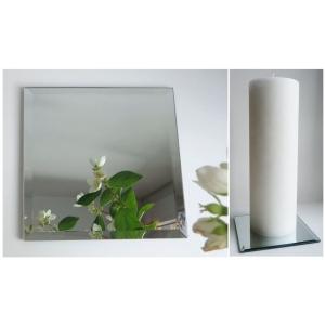 Peegelklaasist küünlaalus 15x15cm
