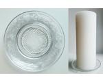 Klaasist küünlaalus mustriga 15cm