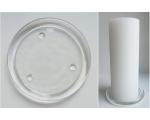 Keraamiline valge küünlaalus 20cm
